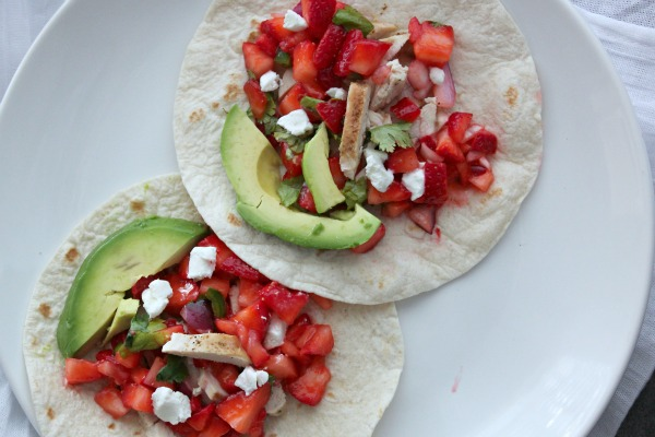 Chicken Fajitas with Strawberry-Jalapeno Salsa by casa de crews