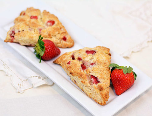 Sweetheart Strawberry Scones
