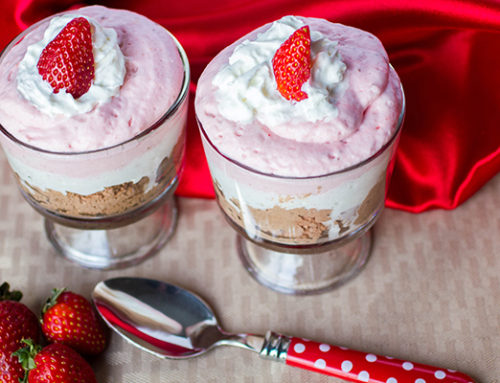 Dark Chocolate Strawberry Mousse Parfaits