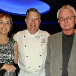 Sandy Lott, Chef Frank Brough and Mike Lott