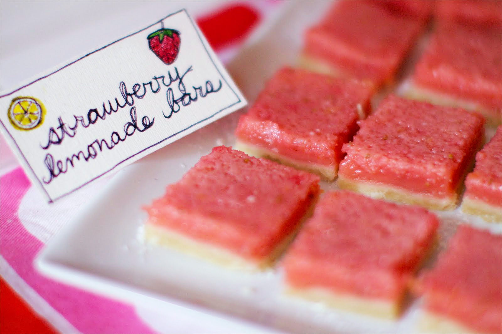 Florida Strawberry Lemonade Bars