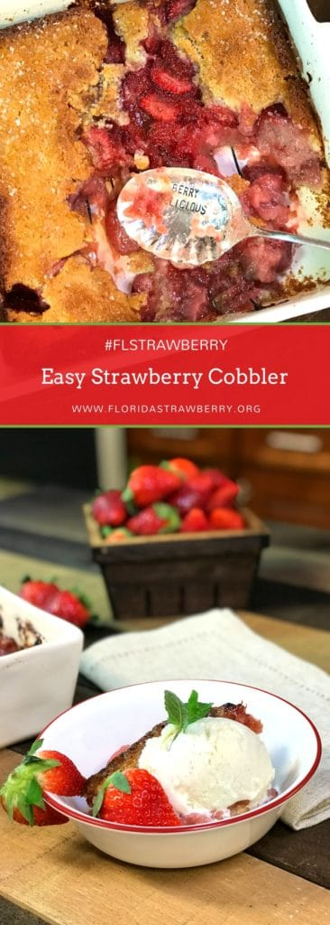 Easy Strawberry Cobbler
