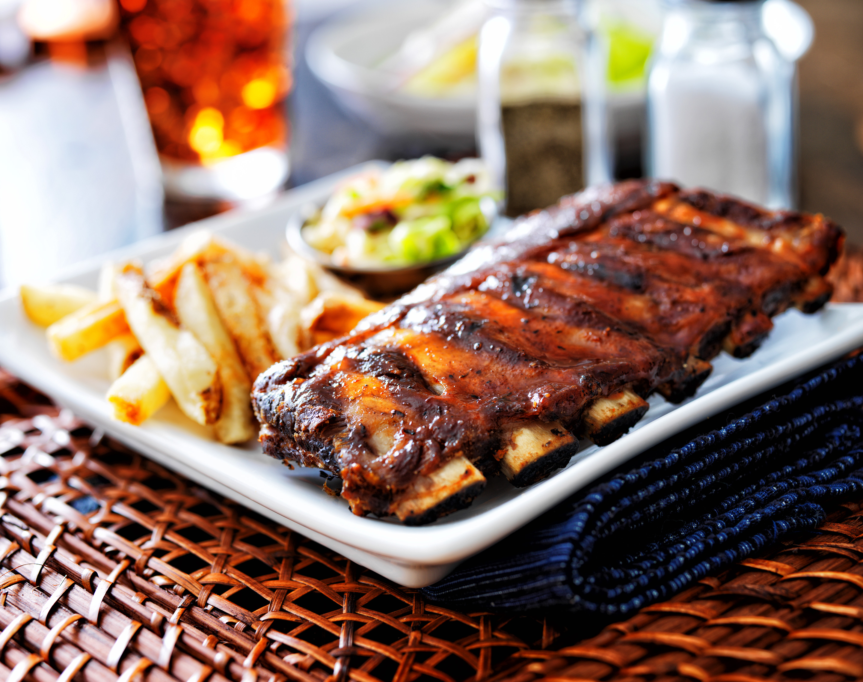 Ribs with Roasted Strawberry Bar-B-Que Sauce