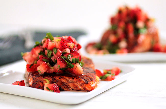 Strawberry Glazed Salmon