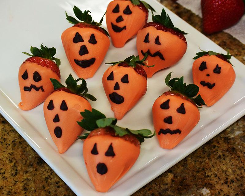 Chocolate Strawberry Pumpkins