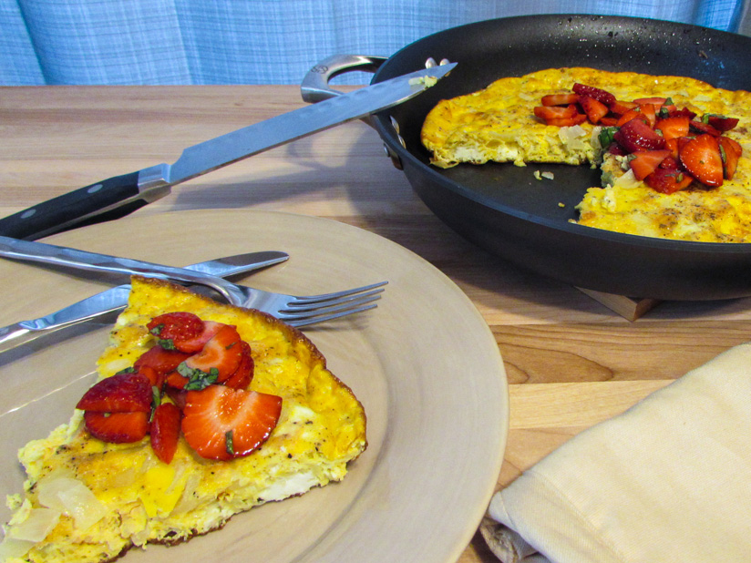 Gluten-Free Strawberry Balsamic Frittata