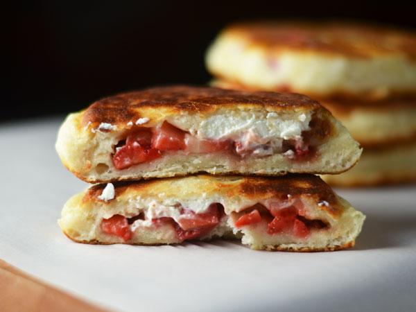 Strawberry Hotteok (Fried Stuffed Pancake) by kimchi MOM