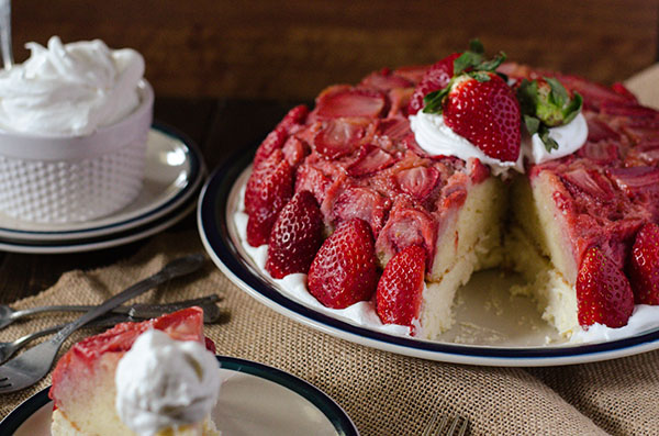 Strawberry Upside-Down Cheesecake by The Crumby Cupcake
