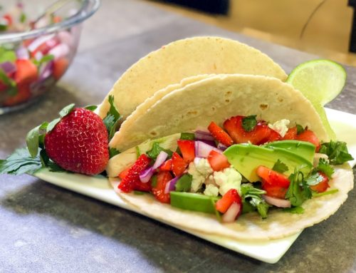 Chicken Fajitas with Strawberry-Jalapeno Salsa
