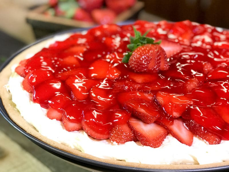 Strawberry Pizza with Sugar Cookie Crust