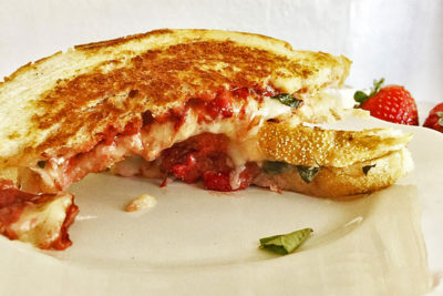 Strawberry Balsamic Brie Grilled Cheese by Authentically Candace