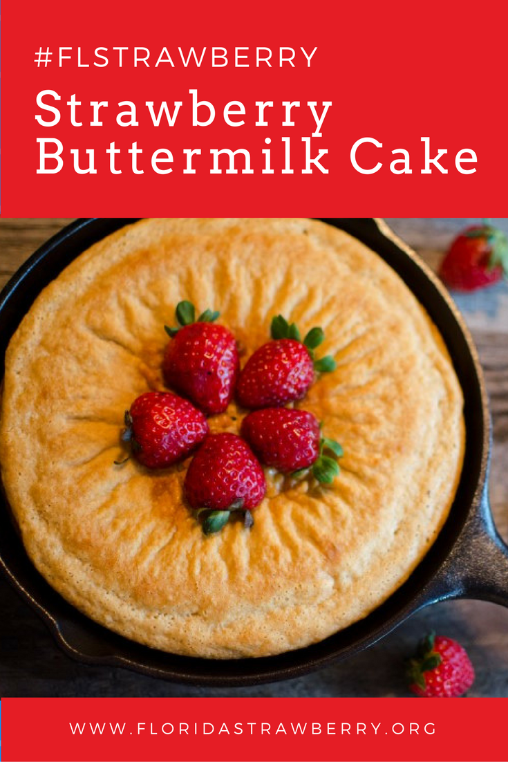 Strawberry Buttermilk Cake by Cricket's Confections #FLStrawberry