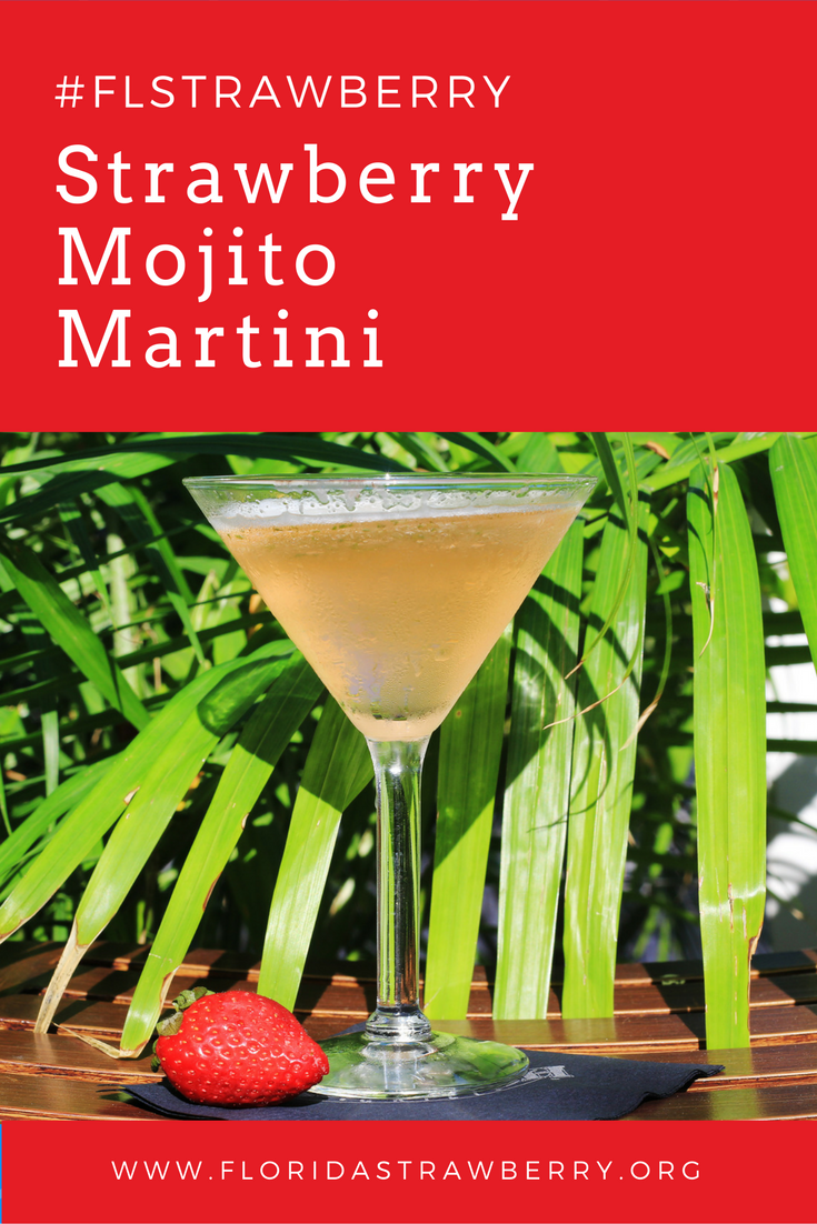 Anthony Ciecalone shares his recipe for the refreshing Strawberry Mojito Martini. #FLStrawberry