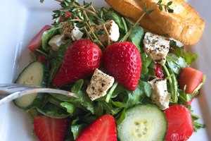Pickled Strawberry Feta Salad by GO Epicurista