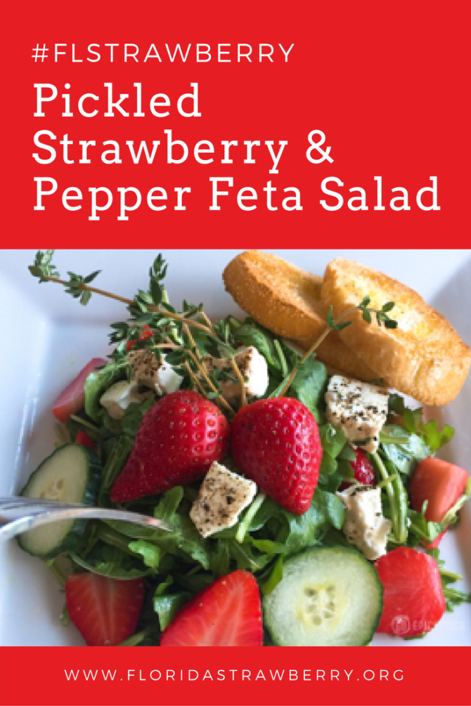 Pickled Strawberry and Pepper Feta Salad