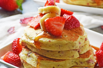 Strawberry Pancakes by Life Tastes Good