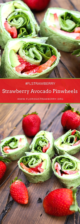 Strawberry Avocado Pinwheels by Helpful Homemade