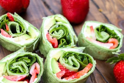 Strawberry Avocado Pinwheels by Helpful Homemade