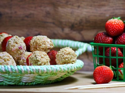 No Bake Strawberry Cheesecake K-Bobs by Recipes, Food, and Cooking