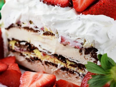 Strawberry Ice Cream Cake by Soulfully Made