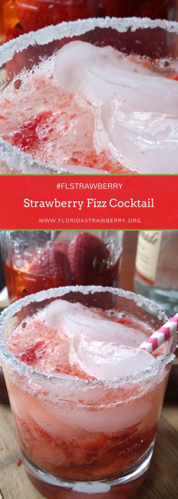 Strawberry Fizz Cocktail by Hardly A Goddess